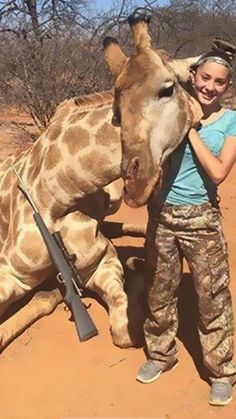 """This is Aryanna Gourdin, 12, of Cove,  Utah.  Her demented dad was apparently desperate for a boy and when they ended up with a girl, Daddy overcompensated turning her into a cold-hearted killer.  If you're old enough to deliberately kill animals, especially for FUN and post sickening pics with their corpses, you're old enough to be called a CUNTBAG. **I've read recently that GIRAFFES ARE BECOMING """"SILENTLY EXTINCT."""" I believe that means extinct but not getting attention like other species."""
