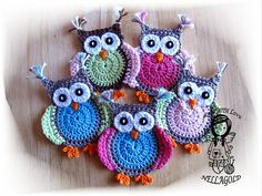 This is PATTERN in pdf. file only !!! No final product !!! Owl size: 11x8cm    Level: for all who are acquainted with the basics of crochet.
