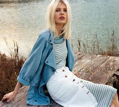 www.nkstore.com.br  #jeans #blue #colors #model #blond #jeansshirst #beautiful