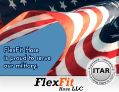 As an #ITAR registered company, #flexfithose is proud to serve our military with our full line of PTFE lined hose, flexible metal hose and silicone hose assemblies, hose fittings, tube bending and custom parts manufacturing on CNC Swiss machines.