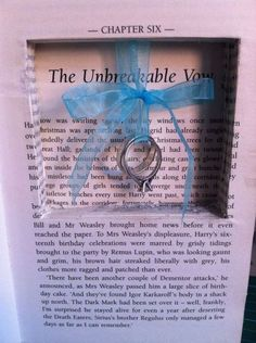 Harry Potter ring book, the Unbreakable Vow