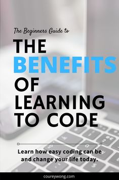 Have you ever wondered what are the benefits of learning code? Why should you even attempt to learn it? Learn the top 5 benefits of why you should learn to code. Learn Computer Science, Computer Coding, Computer Programming, Computer Basics, Python Programming, Learn Html, Learn To Code, Learn Coding, Clean Web Design
