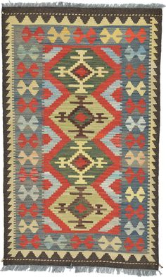 Terracotta 7 x 2 Kilim Maymana Rug Textile Patterns, Textiles, Terracota, Tapestry Weaving, Home Office Design, Rugs On Carpet, Bohemian Rug, Hand Weaving, Area Rugs