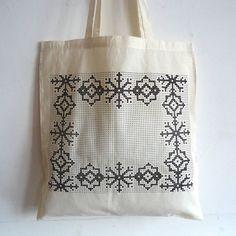 cross stitched tote bags - Google Search
