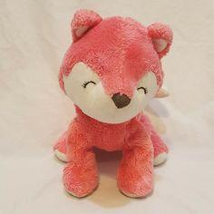 "Pink Salmon Baby Fox Plush Stuffed Animal 2015 6"" Carters #Carters"