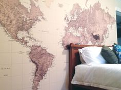Sepia World Map wallpaper by Wallpapered