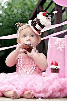 Birthday Cupcake - Strawberries & Chocolate - Over The Top Headband  For a Cute Birthday Party