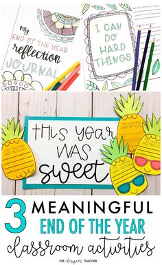 Keep your students engaged with these meaningful classroom activities for the end of the year. #classroom #teaching #endoftheyear