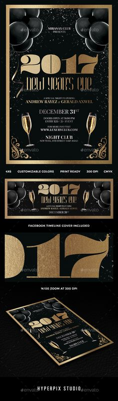 New Year Eve #Party #Flyer - Clubs  Parties Events Event Flyer - new years party flyer