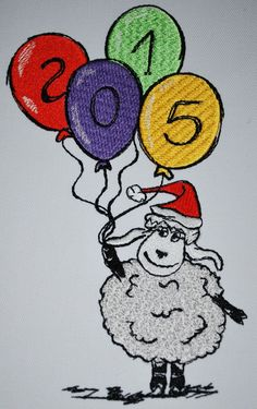 Christmas sheep 2015 free embroidery design