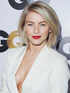 Blown dry and silky, Julianne Hough's hair looked sexy and slick at the GQ Men of the Year Party.