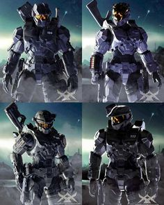 Halo 3 Pc, 343 Industries, Halo Game, Fantasy Armor, Alien Logo, Master Chief, Video Game, Star Wars, Blue