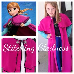 PREORDER.  Frozen Anna Cape. Princess Anna by StitchingGladness, $25.00