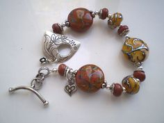 TAPESTRY   Victorian Lampwork Bead Bracelet with by donna8 on Etsy, $148.00