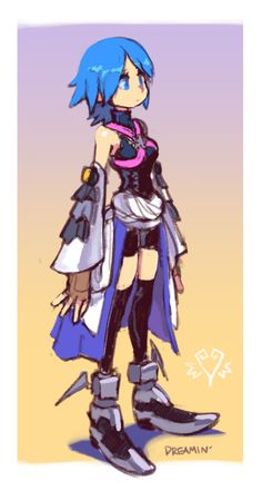 Roxas Kingdom Hearts, Kingdom Hearts Games, Dope Cartoons, Dope Cartoon Art, Heart Artwork, Kindom Hearts, Chibi Characters, Aqua, Character Design