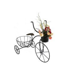 Bicicleta de ferro com vasinho