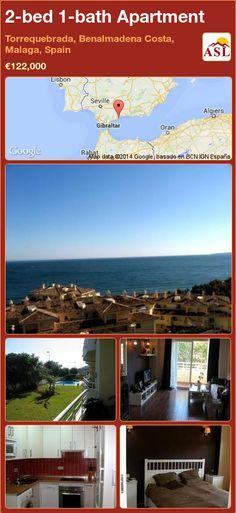 2-bed 1-bath Apartment in Torrequebrada, Benalmadena Costa, Malaga, Spain ►€122,000 #PropertyForSaleInSpain