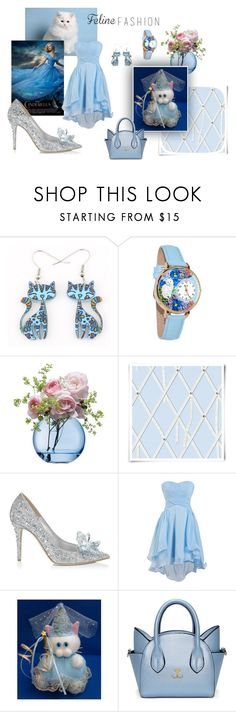 """""""Feline Fashion"""" by thesandlappershop ❤ liked on Polyvore featuring Whimsical Watches, LSA International and Christian Lacroix"""