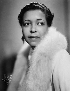 African American blues, jazz and gospel vocalist and actress, Ethel Waters. She performed jazz, big band and pop music, on the Broadway stage and in concert
