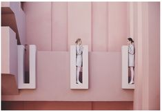 "Lara Zankoul is a Fine Art Photographer from Beirut, Lebanon. In this series ""Strangers"", Lara wants to express ""Two figures distancing themselves in Surrealist Photographers, Conceptual Photography, Wall Lights, Fine Art, Contemporary, Mirror, Creative, Pink, Inspiration"
