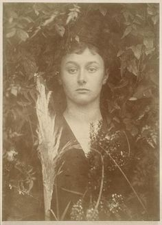 "This photo, by Julia Margaret Cameron (British, 1815-1879) is titled ""Ceres"", in which the model is framed by all manner of leafy items. This, in itself, is not particularly interesting. What is interesting, at least to me, is that the model is a woman named Alice Liddell. When she was a young girl, one of Alice's parents' friends, C.L. Dodgson, entertained her with fantastic stories. These stories were published as ""Alice in Wonderland"" and ""Through the Looking Glass""."
