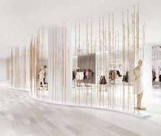 Part of our feature on four retail environments with dazzling art installations. If the Garden of Eden had a fence, it might look something like the room divider at Saks Fifth Avenue's downtown location. Unitfive Design – whose gold-plated, wireframe stag-head sculpture and chandeliers … Continued