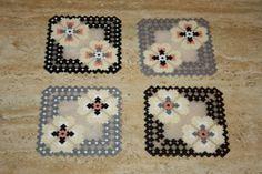 Coasters hama beads mini perler (Set of 4) by DecorarteLeon