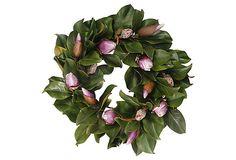 """24"""" Magnolia Bud Wreath  love magnolia leaves"""