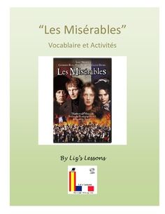 """Les Miserables"" French Vocabulary, Activities, and Film Critique"