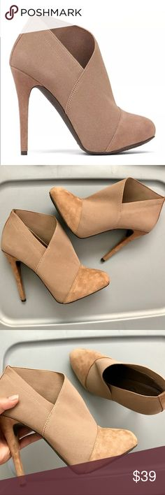 JESSICA SIMPSON NEESHA Heeled Boots US 8 1/2 8.5 M JESSICA SIMPSON NEESHA Taupe Suede Heeled Booties US 8 1/2 8.5 M 38 1/2 in great shape! Jessica Simpson Shoes Heels