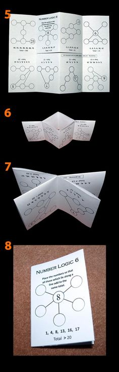 Four folding maths puzzle books - ideal for end of term work or homework