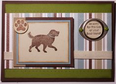 """Pet sympathy card using """"D is for Dog"""" Stampin' Up set"""