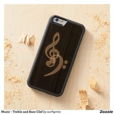 Music - Treble and Bass Clef Carved® Cherry iPhone 6 Bumper Case