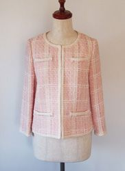 Chanel Inspired Jacket | Another cool Japanese sewing pattern. Learn to sew them at www.japanesesewingpatterns.com