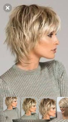 Short Shag Hairstyles for Women Over 50 Back VeiwsShag Haircuts Side and Back ViewI don't like how this curves around the face and goes longer in the back Shaggy Short Hair, Short Shag Hairstyles, Short Layered Haircuts, Easy Hairstyles For Long Hair, Haircuts For Fine Hair, Short Hairstyles For Women, Hairstyles Haircuts, Shaggy Bob, Hairstyle Ideas