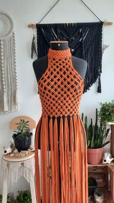 Sewing Kids Clothes, Crochet Clothes, Diy Clothing, Clothing Patterns, Free Crochet Bag, Macrame Dress, Geometric Fashion, Festival Tops, Macrame Design