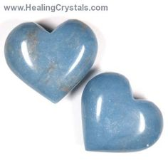 Hearts - Angelite Heart- Angelite - Healing Crystals