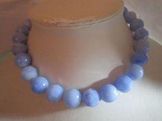 Pop Bead Faux Gemstone Lucite Blue Marbelized by KulturePop, $19.00