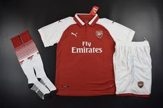 Adult Arsenal Home Red Fans Version Full Kits Arsenal Jersey, Fans, Kit, Shopping