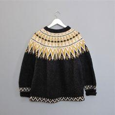 vintage SCANDINAVIAN 1970s wool sweater