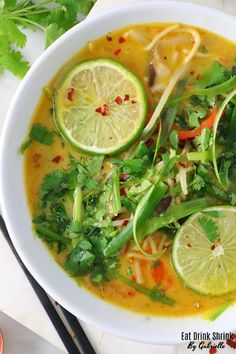 """I'd like to start by saying I'm not a """"soup"""" person. I find them not filling at times unless feeling under the weather or the dead of winter, but … the dead Vegan Thai Coconut Lemongrass Soup - Eat. Asian Recipes, Healthy Recipes, Ethnic Recipes, Healthy Breakfasts, Lemongrass Recipes, Lemongrass Soup Thai, Thai Coconut Soup, Soup Recipes, Cooking Recipes"""