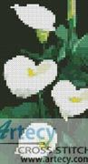 Mini Calla Lillies Counted Cross Stitch Pattern http://www.artecyshop.com/index.php?main_page=product_info&cPath=11_13&products_id=1335