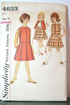 1960s Vintage Simplicity Pattern 4623 Girls by TabbysVintageShop, $7.50