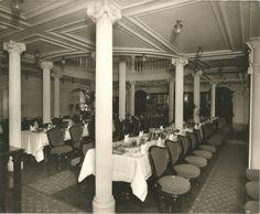 Lusitania .salón comedor de segunda clase
