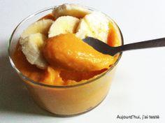 Pumpkin Yoghurt with Banana (Vegan) on Aujourd'hui, j'ai testé (adapted from Lindsay Nixon's Pumpkin Dip)