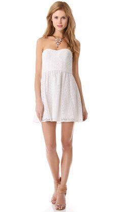 8d58629720e5 Parker London Strapless Dress White Bridesmaid Dresses