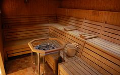 In-home Finnish sauna.  Oh YES!