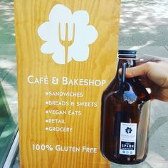 Go get it at @smallflowerbakeshop. 1. Get a growler 2. Fill it 3. Enjoy your fresh local kombucha 3. Clean your bottle 4. Refill 5. Repeat Kombucha cocktails coming soon to @wallflowervancouver!  Re-post by Hold With Hope