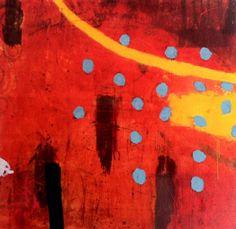 Silvia Poloto. Abstract art red