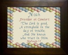 Joseph - Name Blessings Personalized Cross Stitch Design from Joyful Expressions Joseph Name, Cross Stitch Designs, Cross Stitch Patterns, Noah Name, Names With Meaning, Joyful, Gifts For Family, Custom Framing, Blessings